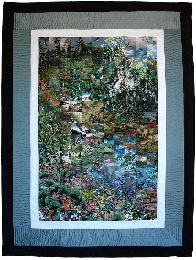 elysian-cascade- Impressionist quilt | QC - Watercolour Quilts ... : impressionist quilts - Adamdwight.com