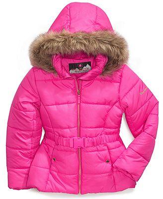 Tenworld B Little Girls Winter Parka Down Coat Hooded Puffer Jacket Padded Overcoat