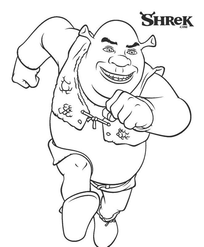free printable shrek color pages | malebog | Pinterest | Farben ...