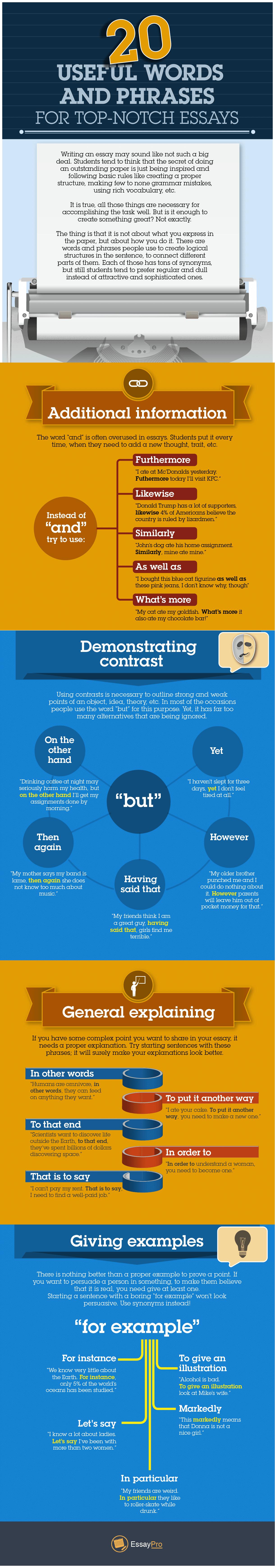 useful phrases writing essays