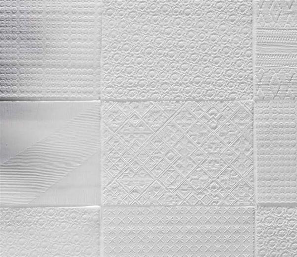 Textured Tile 6x9 Inch 41zero42 White Textured Tile Backsplash Patterned Tile Backsplash White Tile Backsplash
