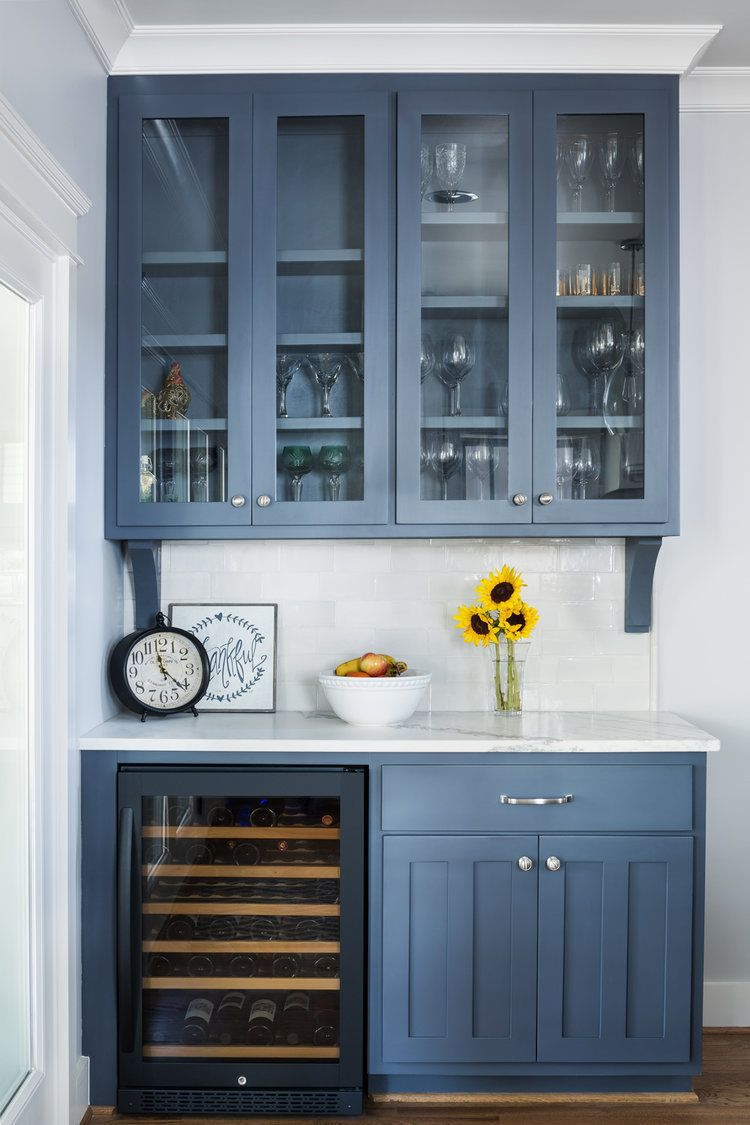 Blue Wetbar Kitchen Cabinet Design Home Kitchens Kitchen Remodel