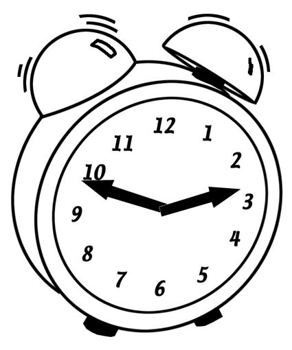 Clock Coloring Pages School Printables Time Out Chair Coloring