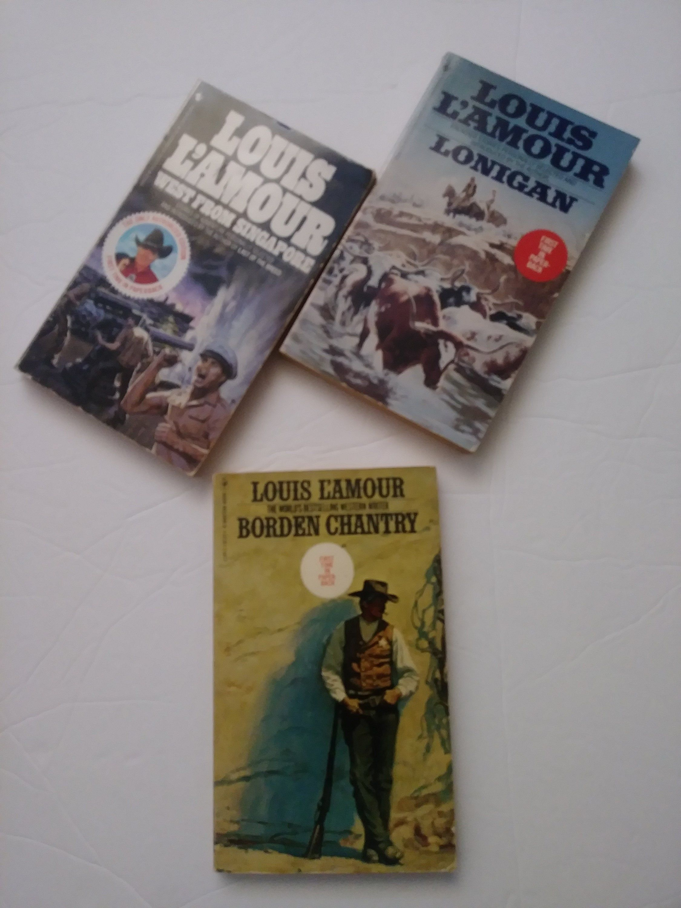 Vintage Louis L Amour Books Western Novel Borden Chantry West From Singapore Cowboy Stories Fiction Story Coffee Table Louis L Amour Books Western Books