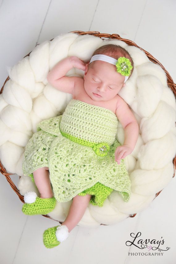 crochet Disney\'s Tinkerbell inspired princess dress | scarf\'s ...