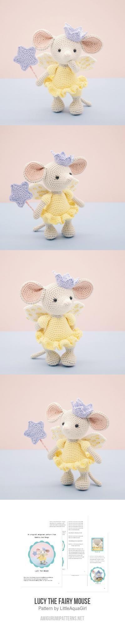 Lucy the Fairy Mouse amigurumi pattern #crochettoys | Амигурами ...