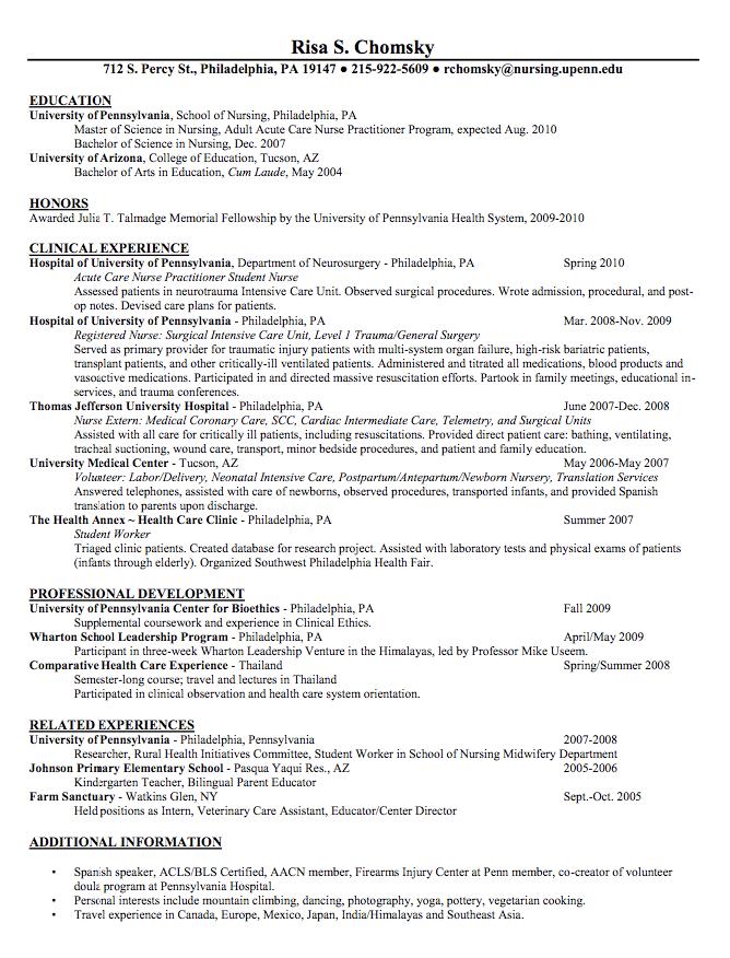 Pin By Latifah On Example Resume Cv Nursing Resume