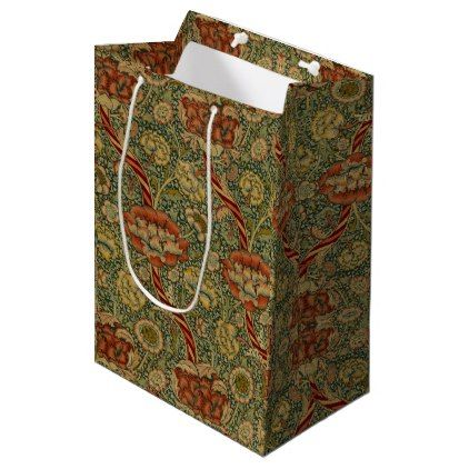 Wandle Design vintage william morris wandle medium gift bag craft supplies diy