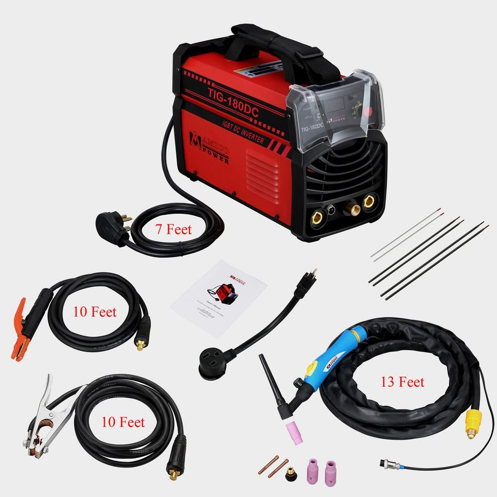 Amico Power Amico 180 Amp Tig Torch Arc Stick Dc Inverter