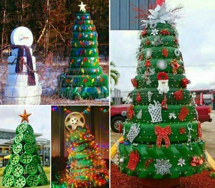 Upcycle tyres how to make christmas tree from tires diy christmas diy crafts do it yourself diy projects christmas tree solutioingenieria Images