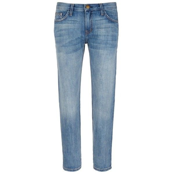 current/elliott 'The Boyfriend' straight leg cropped jeans (5 785 UAH) ❤ liked on Polyvore featuring jeans, blue, boyfriend crop jeans, cropped jeans, current elliott jeans, relaxed boyfriend jeans and boyfriend jeans