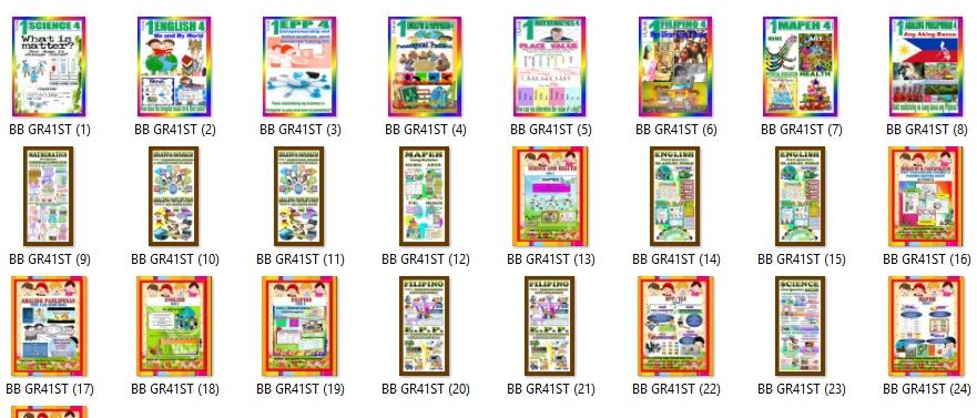 This is a compilation of all the Display Bulletin Boards for