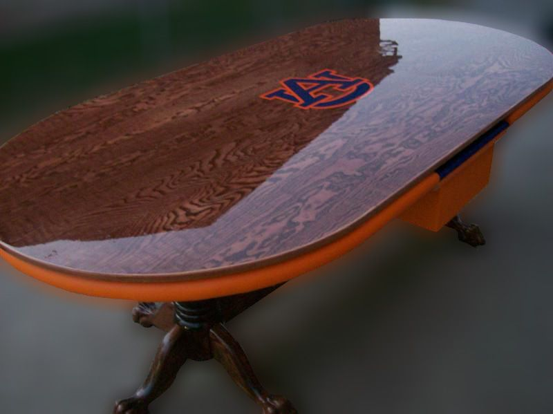 Custom Poker Table With Dining Table Top Auburn University Logo