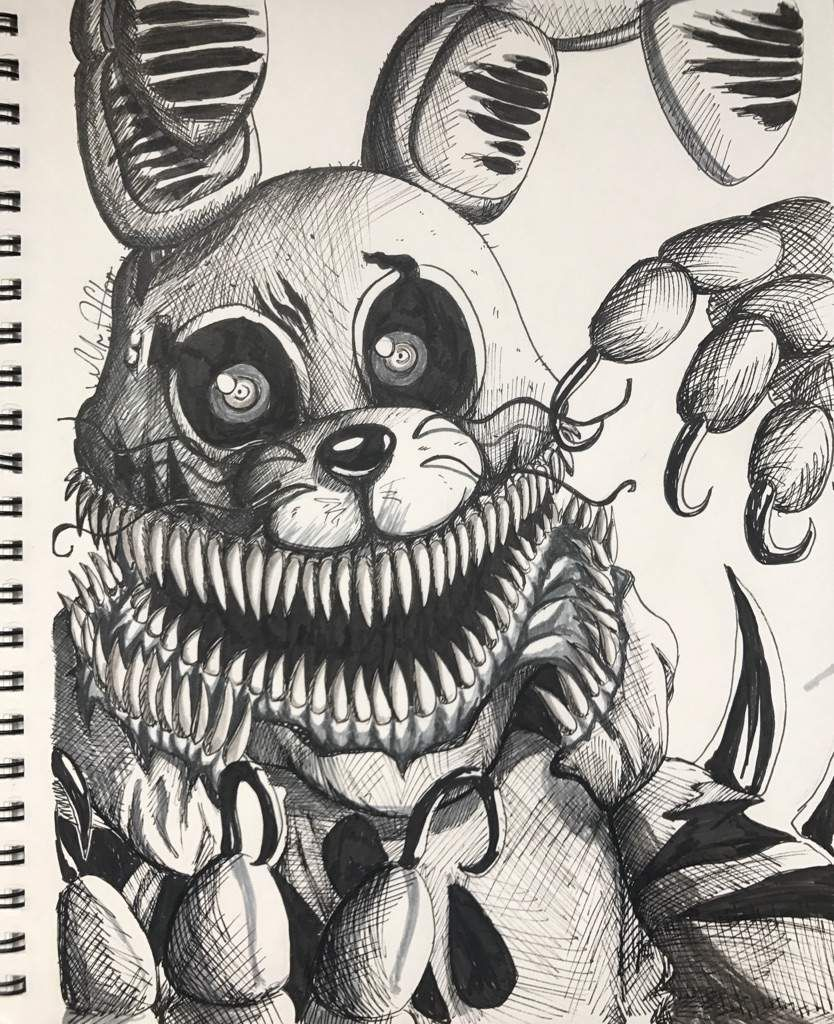 Twisted Bonnie Fnaf Coloring Pages Fnaf Drawings Fnaf Art