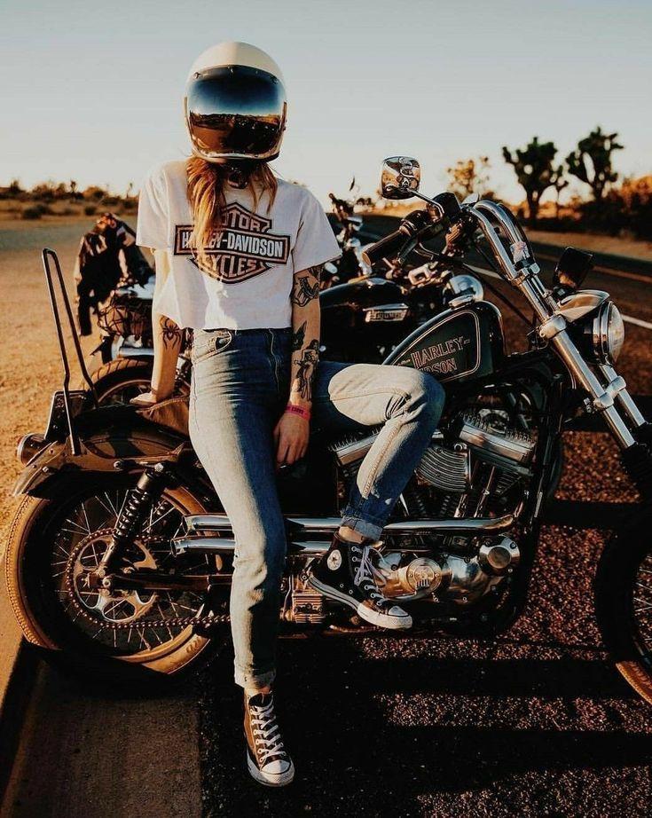 Beautiful Ladies On Bike! You Bet #All-Powerful #bikelife #motorbike #bike #girls