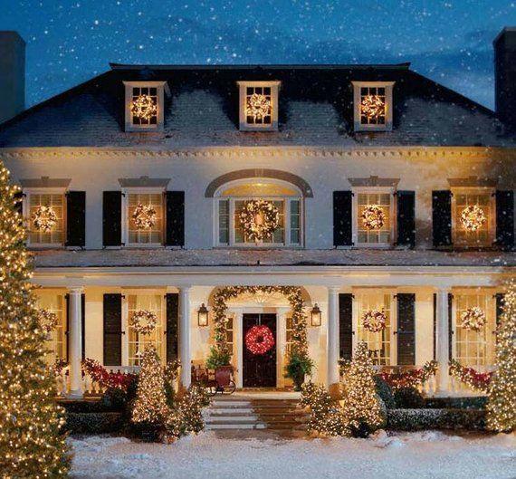 Christmas house cross stitch pattern, cross stitch