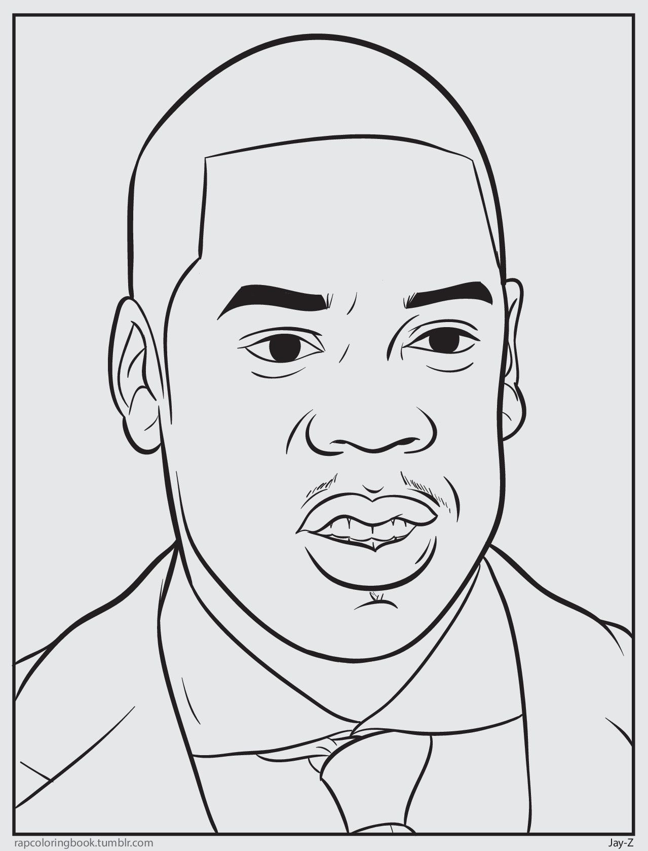 Bun B S Jumbo Coloring And Rap Activity Tumblr Jay Z