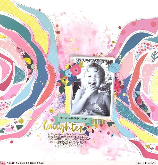 Laughter Layout By Missy Whidden Paige Taylor Evans