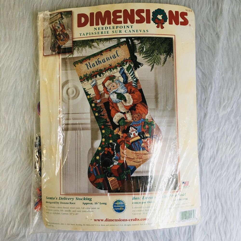 Dimensions Santa's Delivery Christmas Stocking Kit