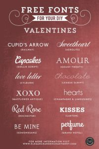 Free Fonts for Your Valentines