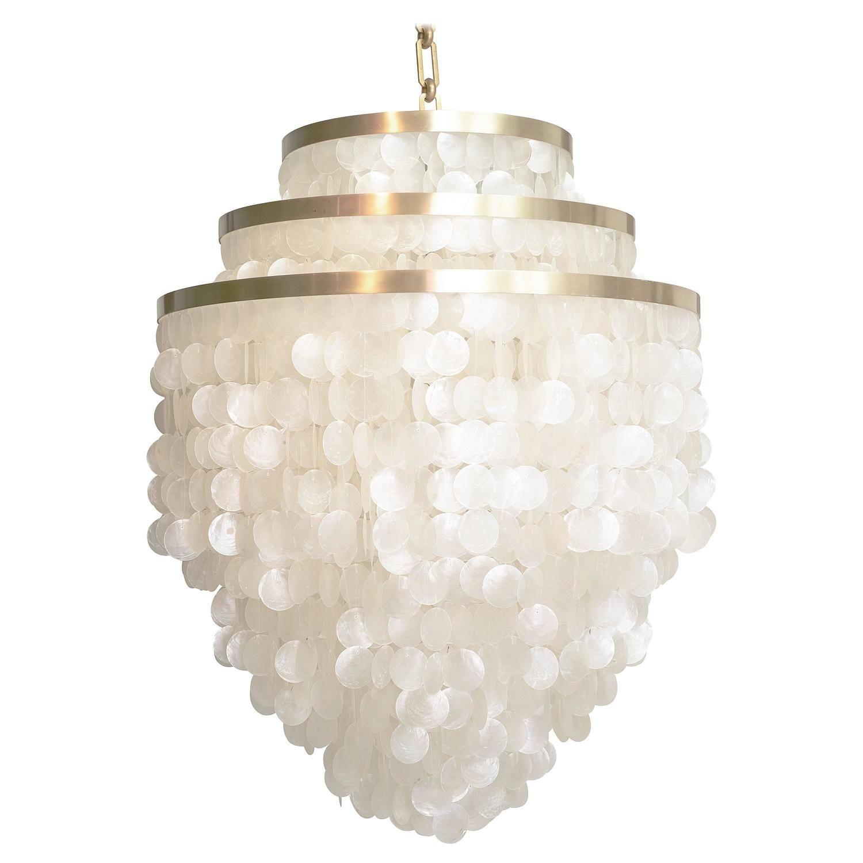 Custom capiz chandelier pendant lighting chandeliers and modern custom capiz chandelier mozeypictures Gallery