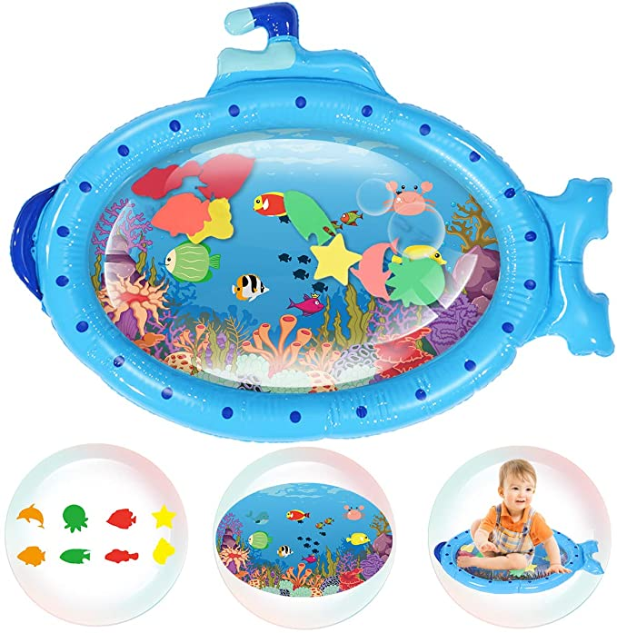 Amazon Com Jeteven Tummy Time Water Mat Submarine Baby Inflatable Stimulation Growth Early Development Fun Play Toys Ac In 2020 With Images Diy Baby Stuff Tummy Time Water Mat