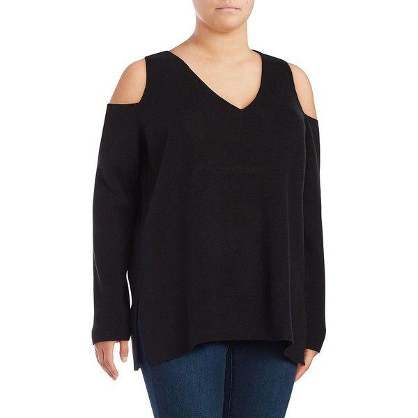 91989c2e0b478 Rachel Rachel Roy Plus Women s Cold-Shoulder Sweater ( 99) ❤ liked on  Polyvore