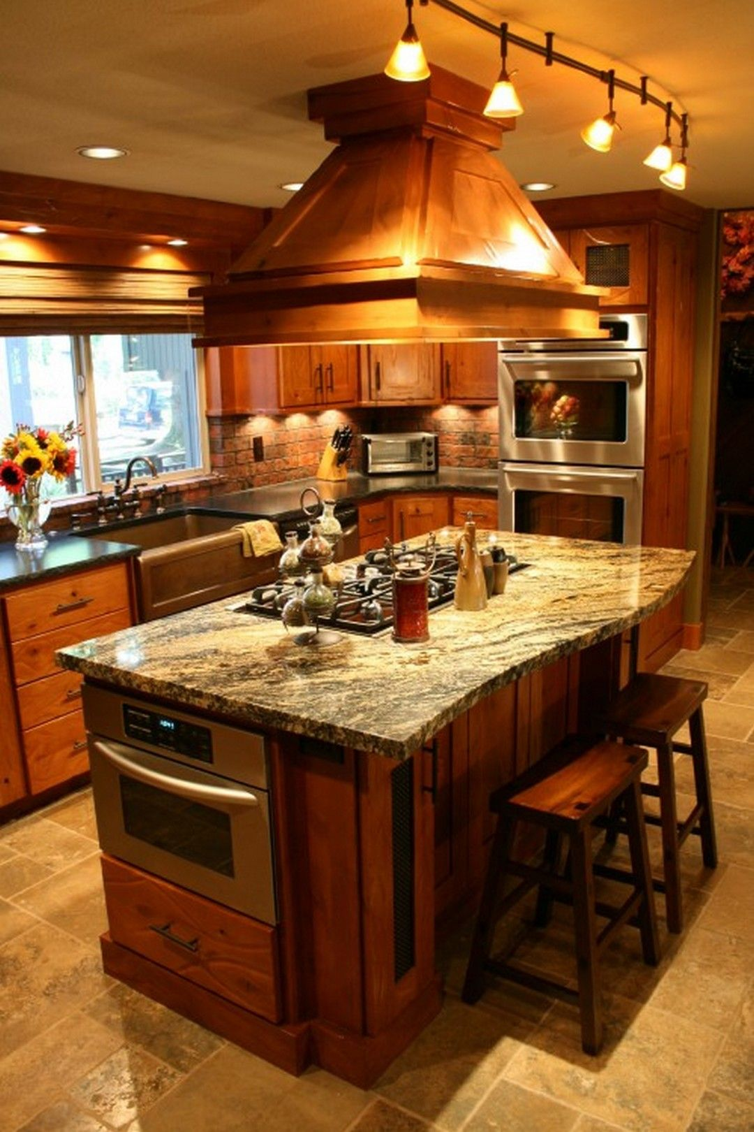 Creative Kitchen Islands With Stove Top Makeover Ideas Cocinas