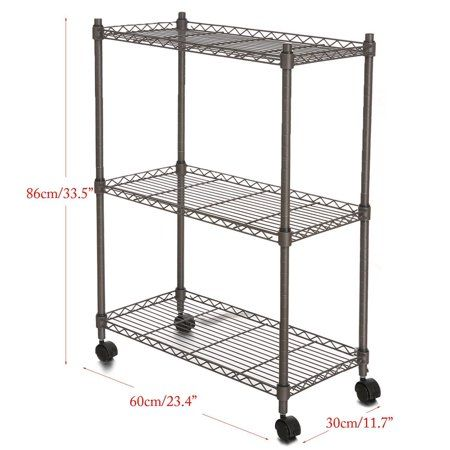 Metal Kitchen Rack Laminate Flooring For Holiday Clearance 3 Tier Heavy Duty Microwave Clearancei Oven Stand Storage Cart Black