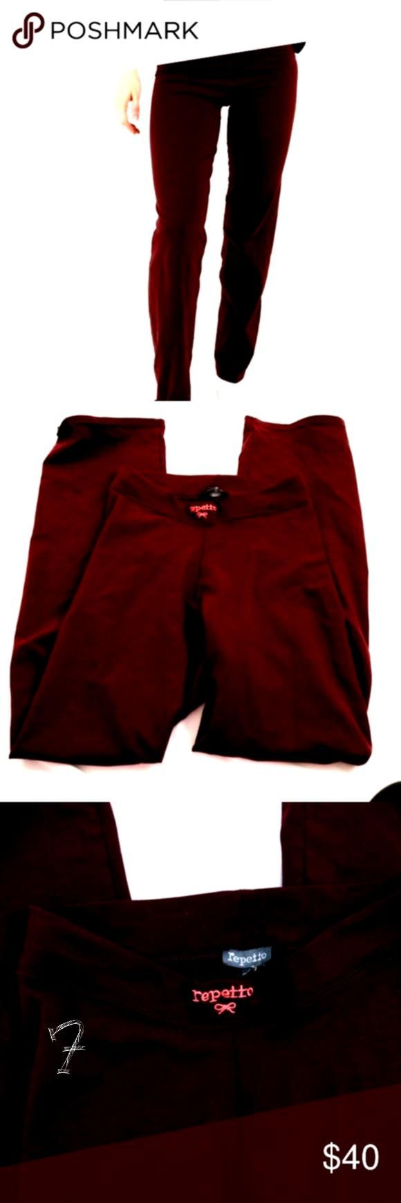 ballet dance pants small E7 Repetto maroon colored pants So soft and e Repetto ballet dance pants small E7 Repetto maroon colored pants So soft and eRepetto ballet dance...
