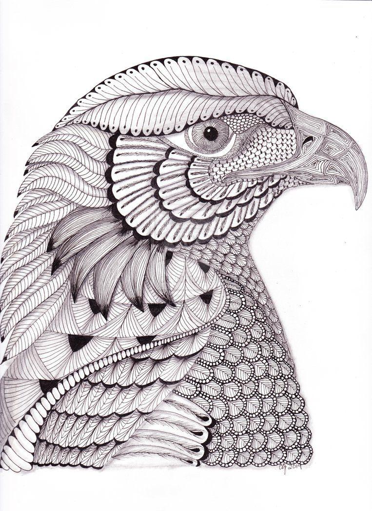 kleurplaat roofvogel kleurplatenl