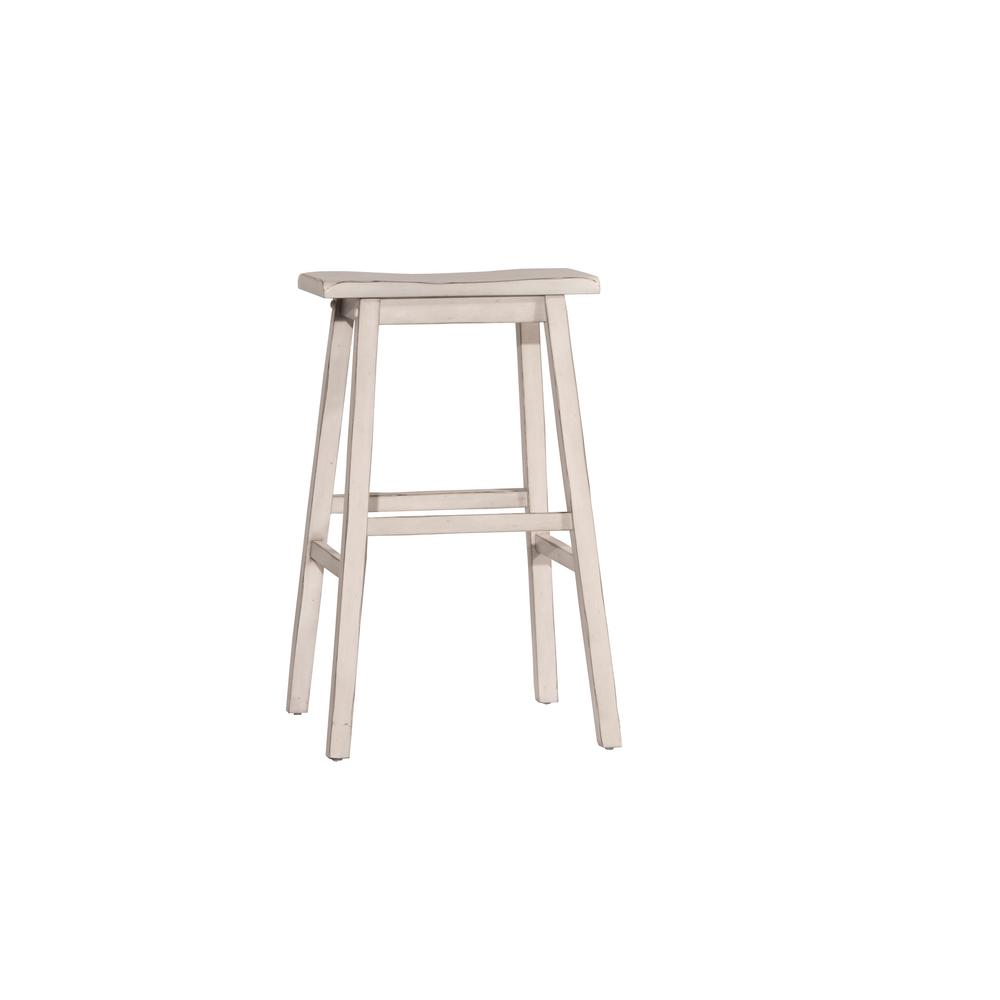 Hillsdale Furniture Moreno Sea White Non Swivel Backless Counter Stool Backless Bar Stools Hillsdale Furniture Counter Stools