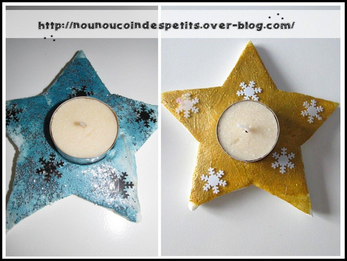 Activité Manuelle Noël avec bougeoir étoile en pâte autodurcissante | acm | pinterest | noel