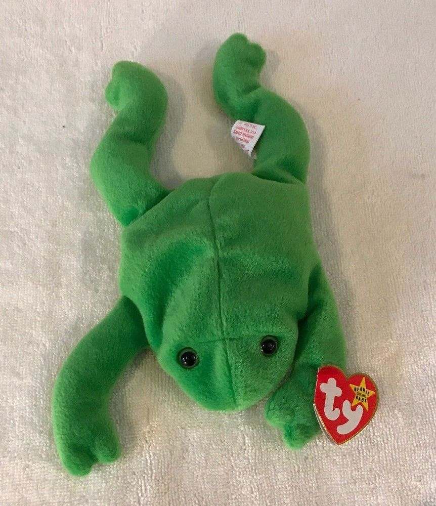 MINT with MINT TAG TY LEGS the FROG BEANIE BABY