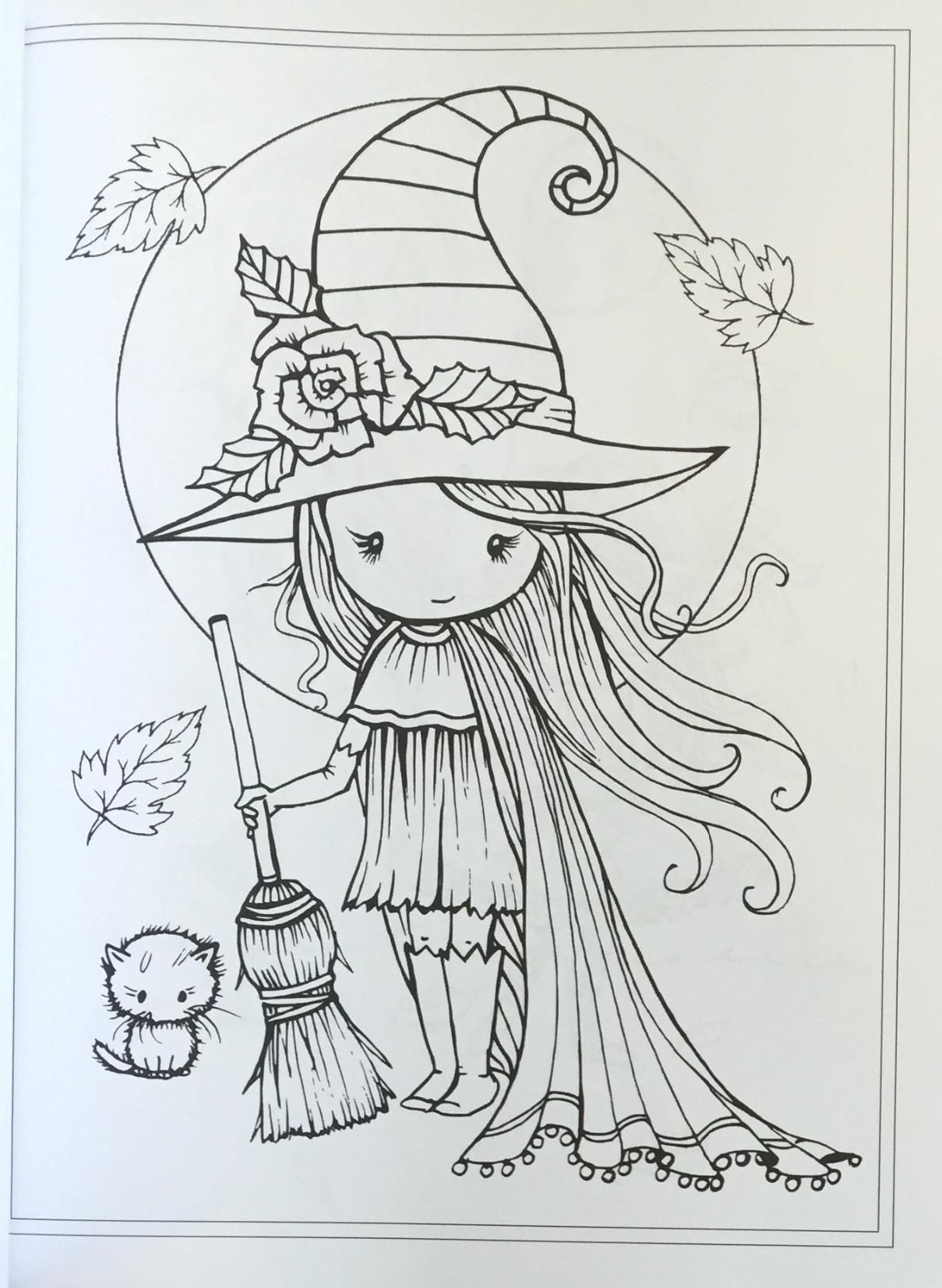 Whimsical Halloween Coloring Book Witches Vampires Kitties And More Molly Harrison