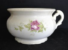 ThriftCHI ~ Buffalo Pottery Chamber Wash Pot w/ Rose Deco