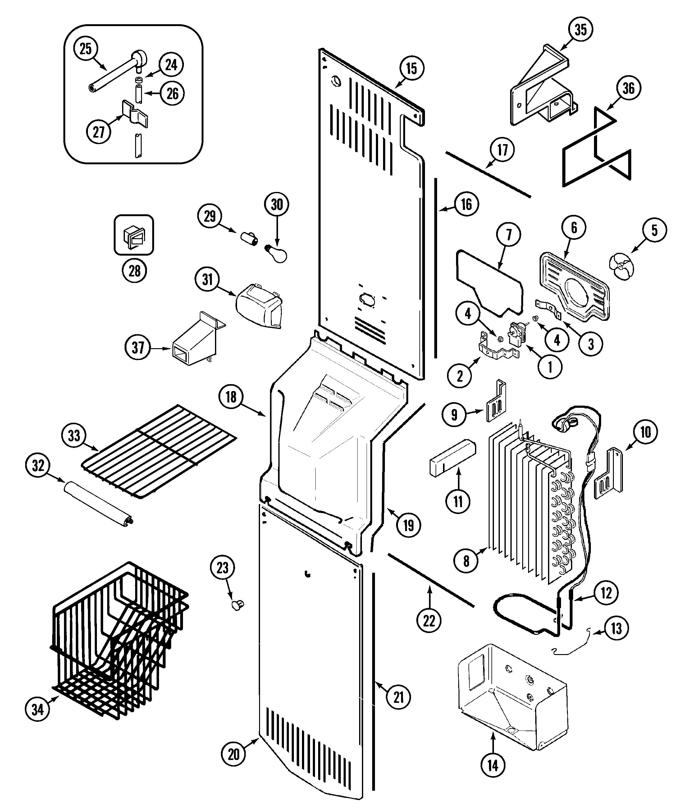 Maytag Side By Side Refrigerator Parts