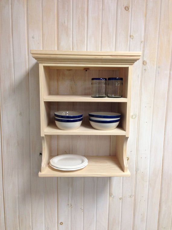 Wall Mounted Dish Rack 3 Shelves by NicoletWoodProducts on Etsy ...