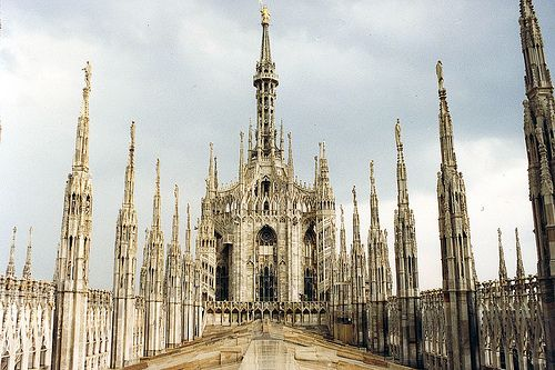 Milan - Duomo (Roof) by WVJazzman, via Flickr-yeah, I would live here