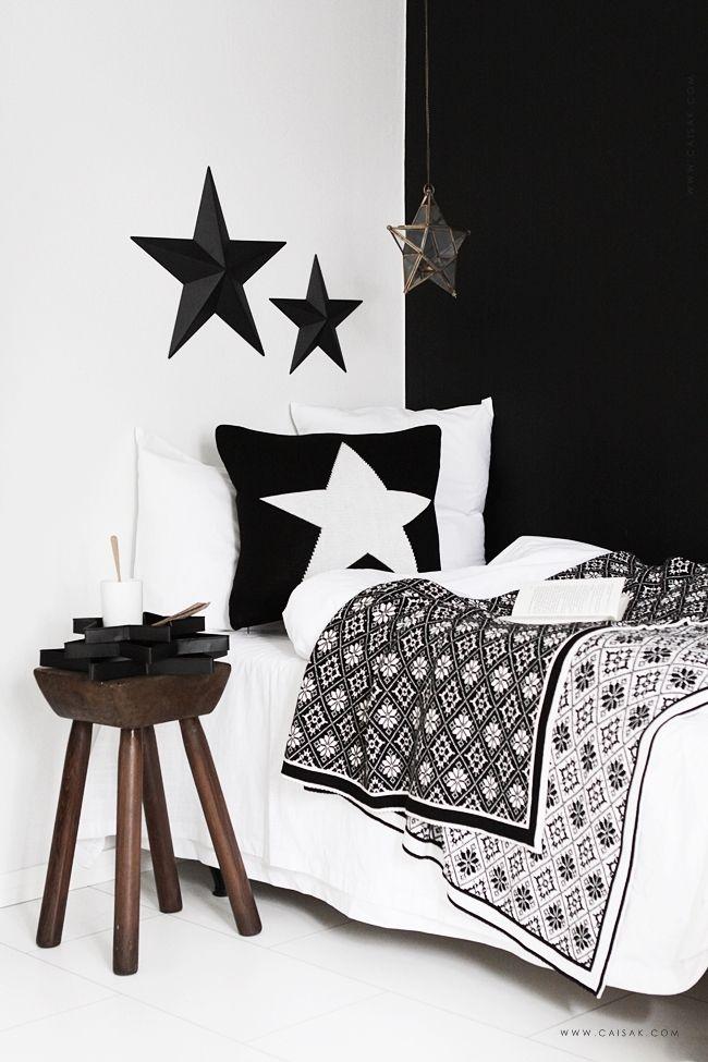 Inspiratie: stoere slaapkamer in zwart & wit - via CAISA K.   Decor ...