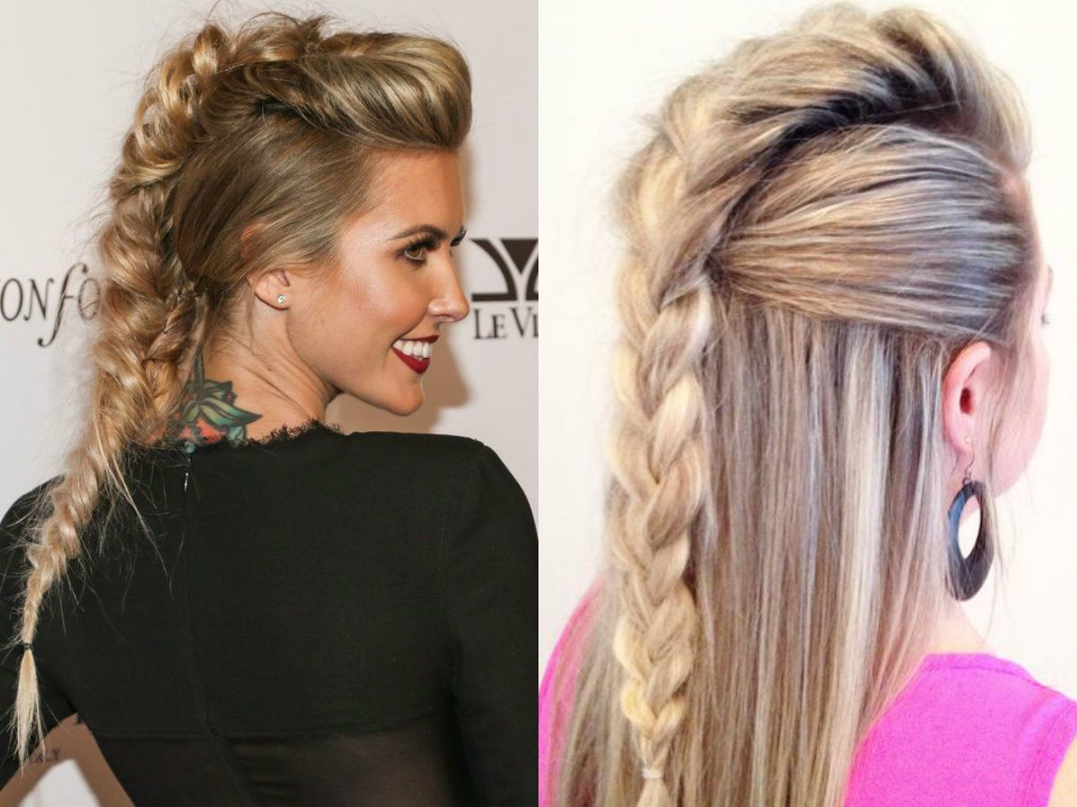 Braided mohawk braids pinterest braids mohawk braid and
