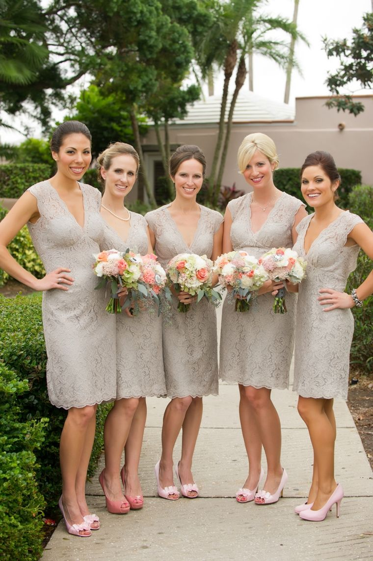 Vintage peach florida wedding lace lace bridesmaids and wedding love the lace bridesmaids dresses for a vintage style wedding ombrellifo Gallery