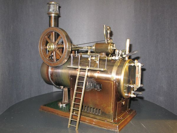 B C D Cb A B E on Antique Hand Crank Tractor Engine For