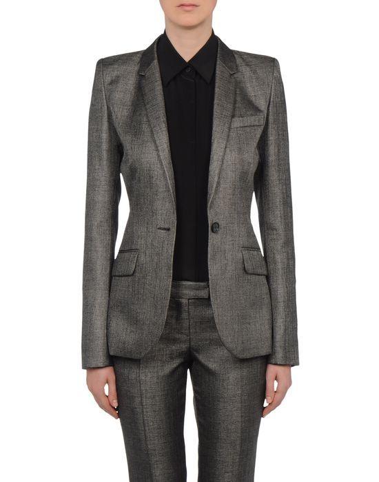 ca838bc31357 Women's Blazer Barbara Bui MASCULINE JACKET, silver sheen suit, custom  tailored suit