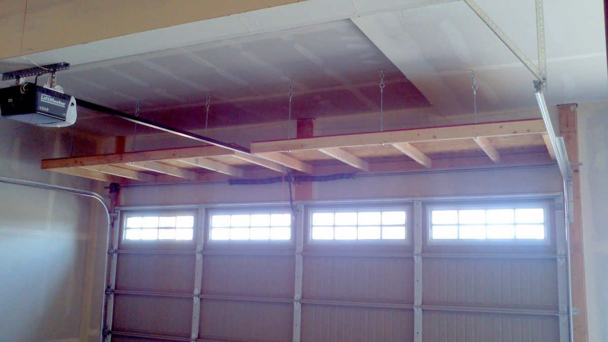 how to build a garage overhead storage