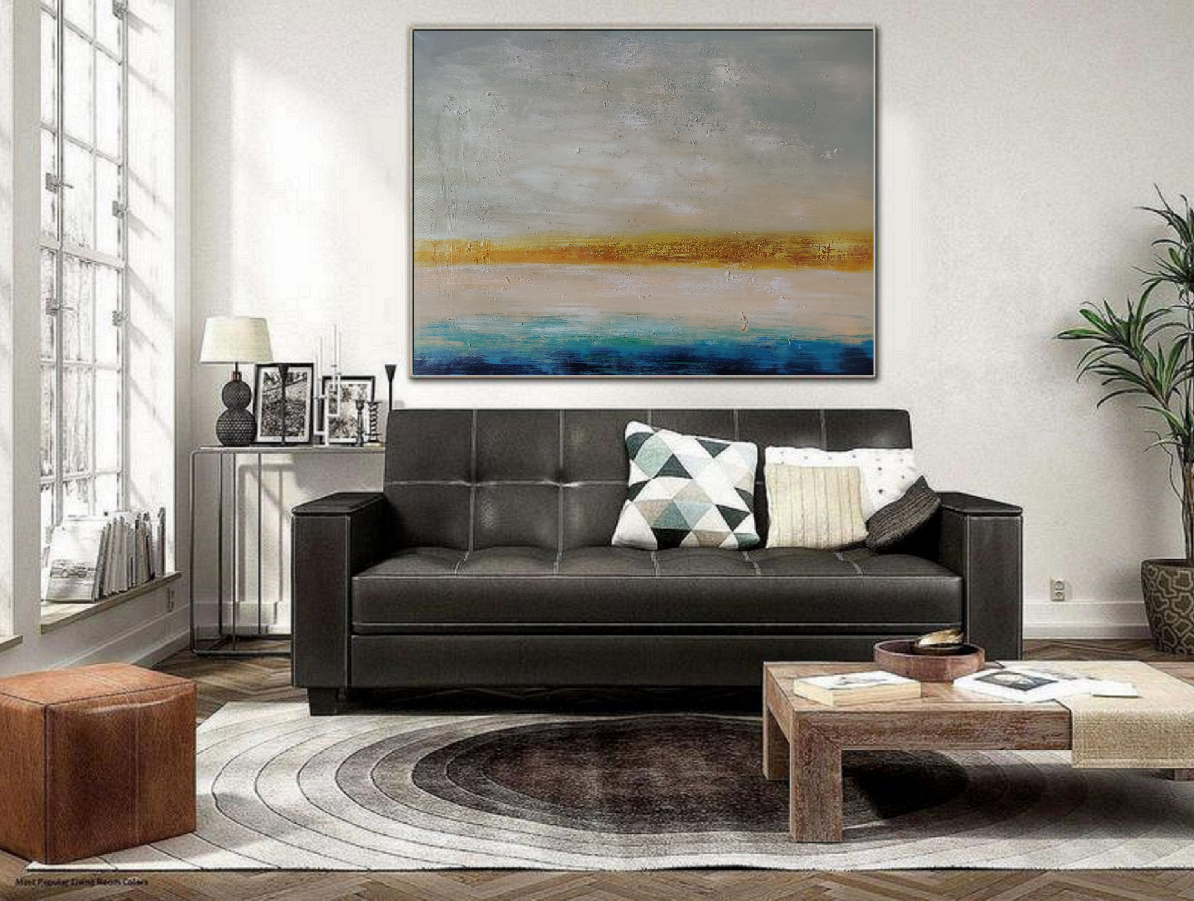 Original Abstract Oil Painting Living Room Decoration Abstract Oil Painting Personal C In 2020 Abstract Canvas Painting Blue Abstract Painting Sky Landscape Painting #oil #painting #living #room