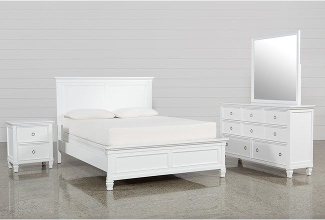 living spaces bed sets full bedroom storage white furniture with ...