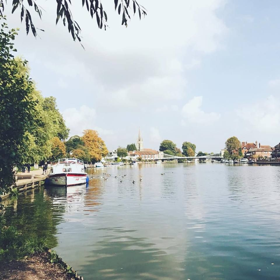 A view of Marlow and the River Thames from the Thames