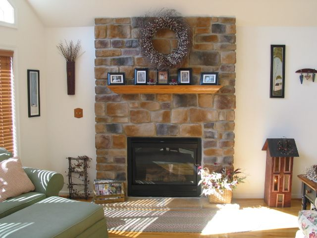 Home Decor, Stone Wall For Fireplace In The Cheap Home Decor Catalogs With  The Elegant Design Ideas With Sofa And Some Accessories Also Photos Frame  Over ...