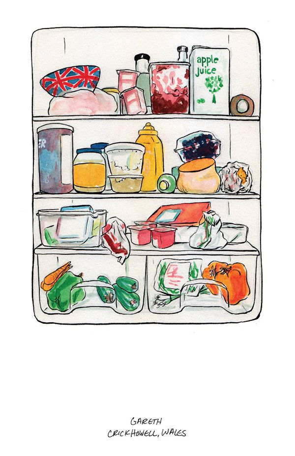 Whats In Your Fridge On Behance Easy Cartoon Drawings